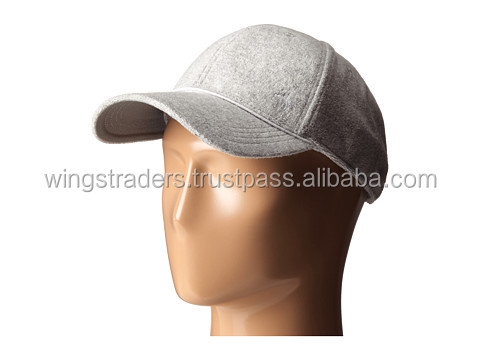 baseball cap with six-paneled construction