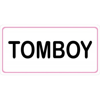 Tomboy On White Photo License Plate - discounts available, click on picture to view