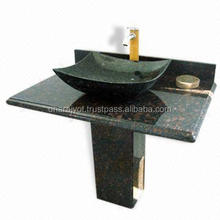 black granite standing counter top hand wash basin and sink