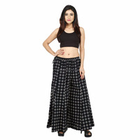 designer women girl black pants trousers divider palazzo
