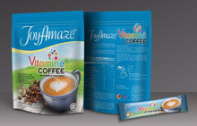 Instant coffee with vitamins