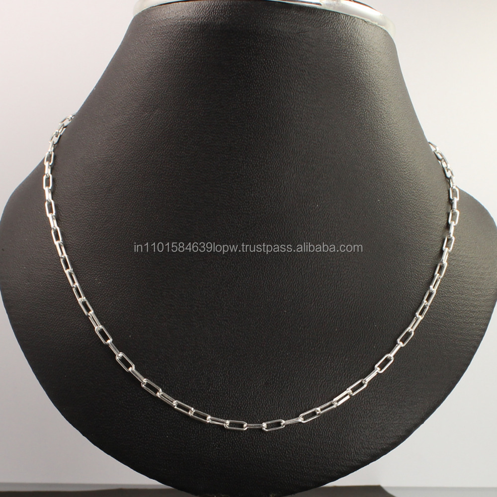 Wholesale 925 Solid Sterling Silver Necklace 2.5mm Wide Cable Chain 18inch 46cm
