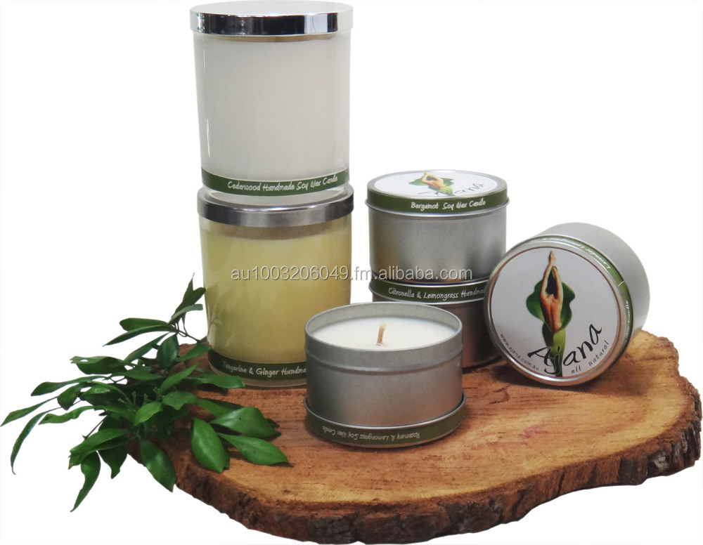 Handmade in Australia 100% Natural Soy Wax Candles - Essential Oils