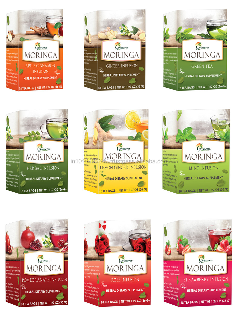 Finest Quality Malunggay Slimming Green Tea