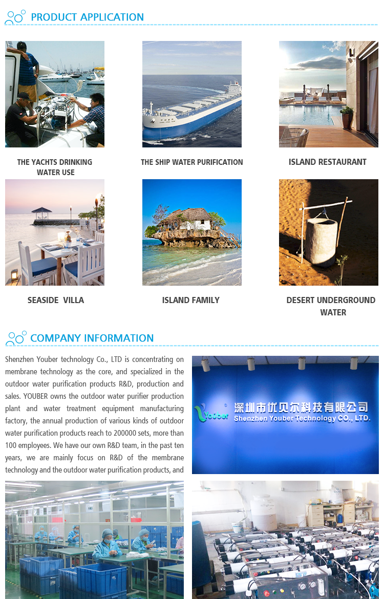small drinking water RO system, sea water or brackish water desalination equipment