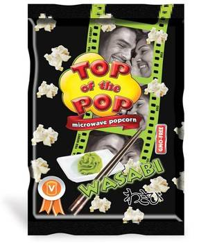 Snack food Microwave Popcorn with Wasabi flavour