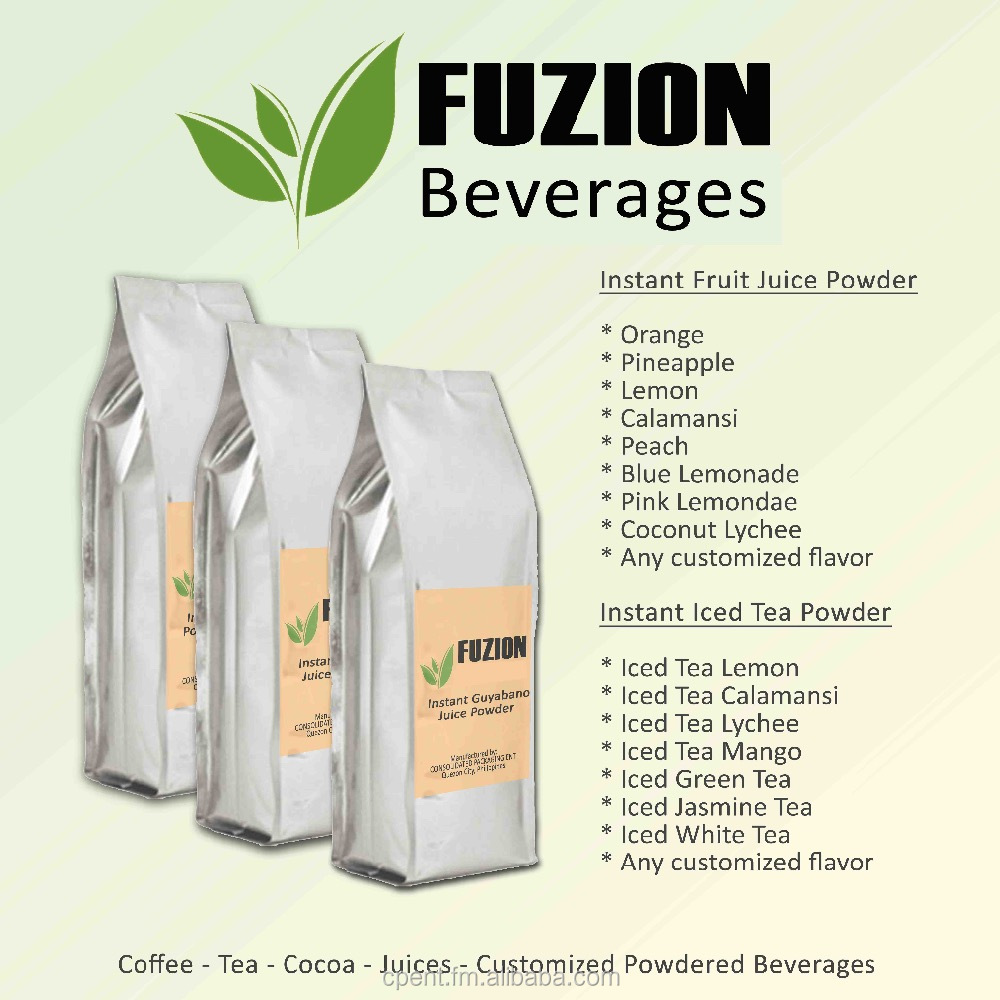 Instant Powdered Juices Beverage (Customized)