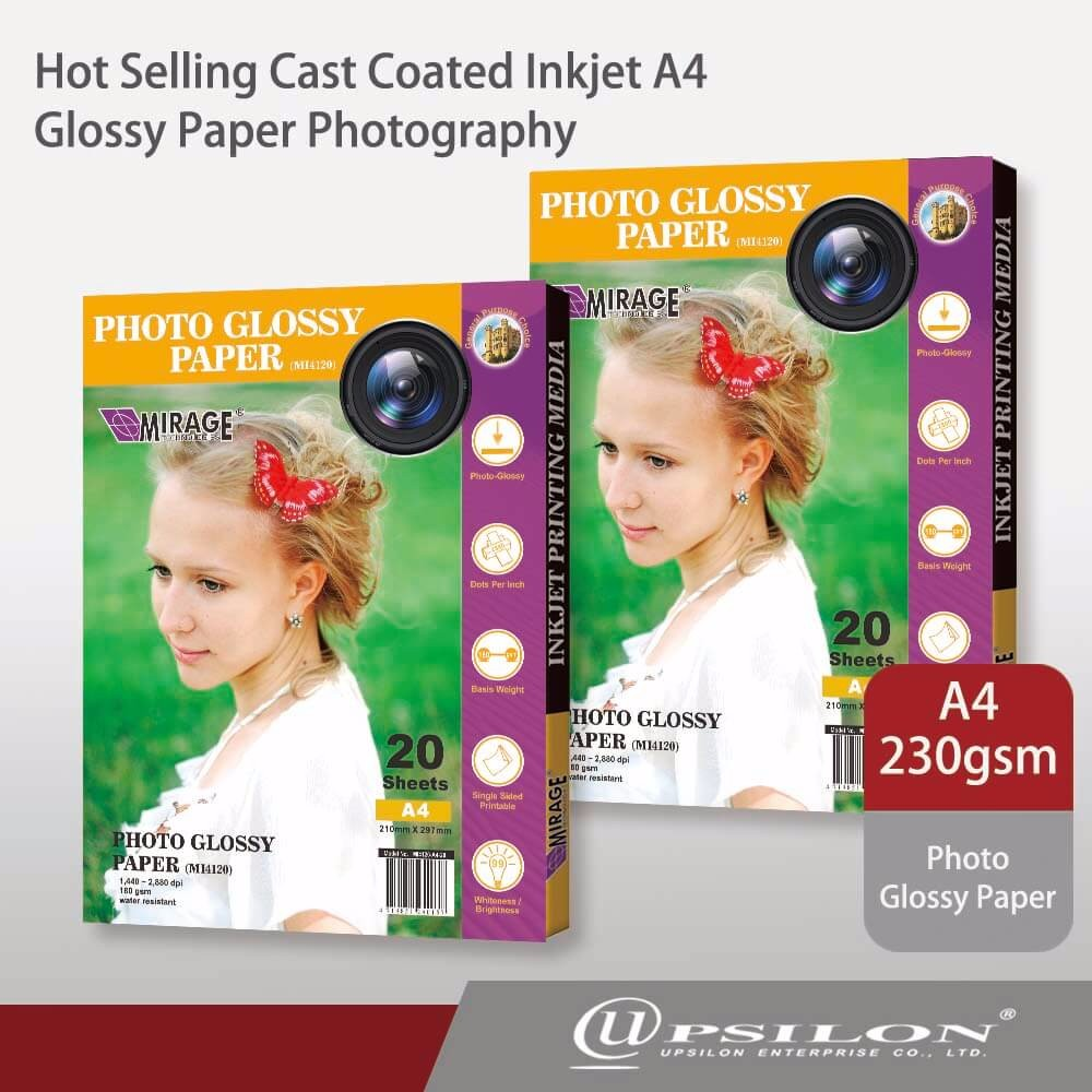 Hot Selling Cast Coated Inkjet A4 Glossy Paper Photography