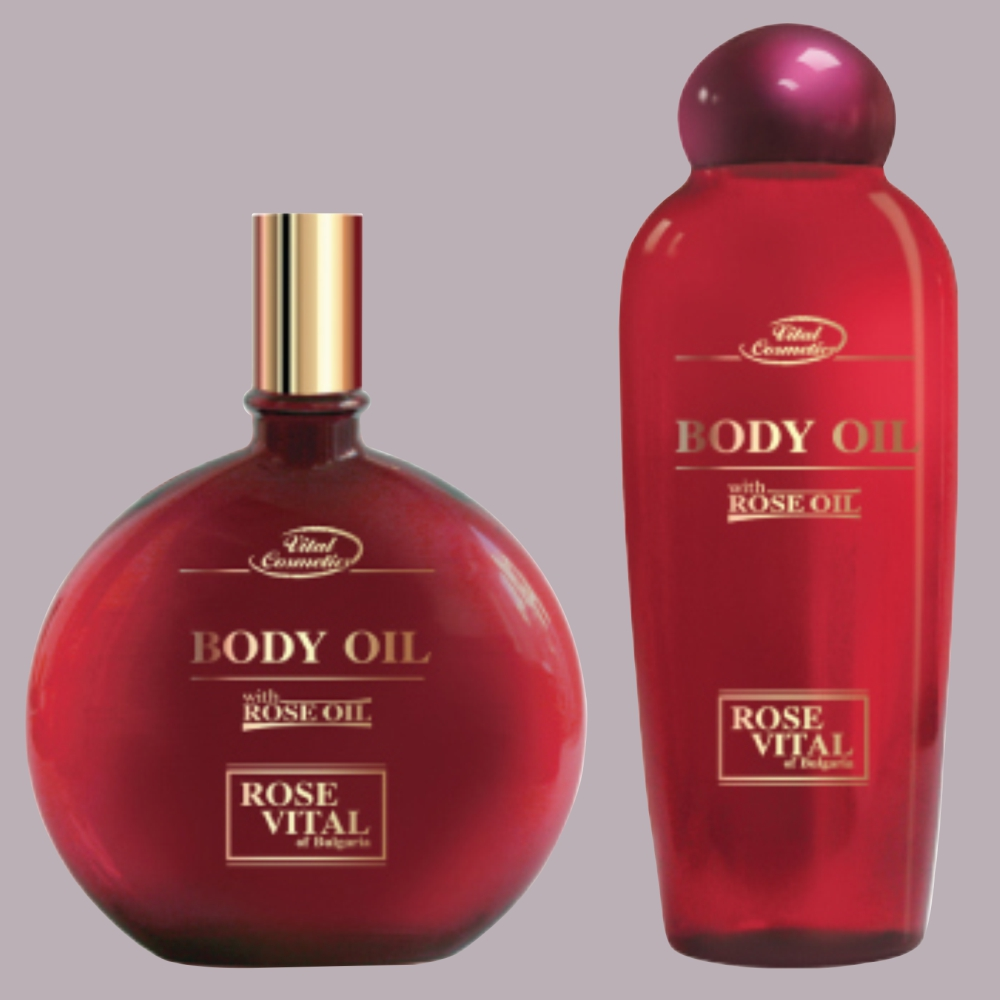 Body oil with rose oil - 150 ml - 250 ml.