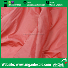 Brick Red Shot Off White Taffeta Fabric