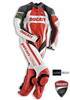 Mens Ducati Orignal Corse Premium Style Motorbike Racing Leather One Piece Suit, Jacket + Trouser, All Sizes