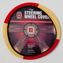 STEERING WHEEL COVER RED/YELLOW ON PEGGABLE CRDBRD INSERT #8521