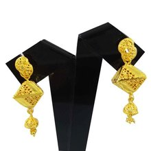 South Indian Jewellery 18K Gold Plated Dangle Earring Set Traditional Jewellery Gift For Her -BSE3449