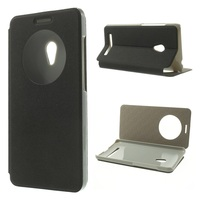 Wholesale Popular Circle Window Sand-like Texture Leather Case with stand for Asus Zenfone 5