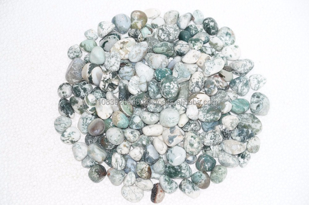 Tree Agate High Grade Tumbled Stones