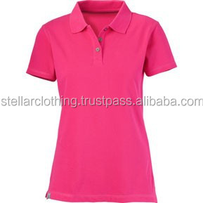 women cotton polo shirt
