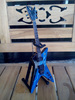 Black Sabbath & Ozzy Osbourne Miniature Guitar Fly V Blue Color RV20 With Stand