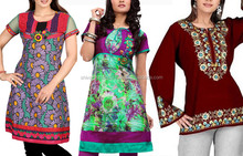 Floral Printed Ladies Kurti Collection 2017 Latest Casual Wear & Night Wear Kurtis
