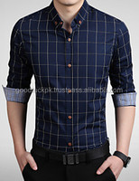 dress shirt - wholesale OEM men dress shirts - check design dress shirt