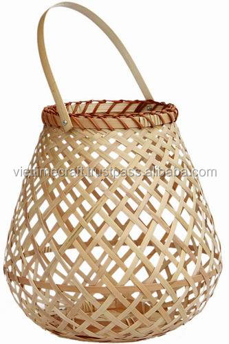 Natural bamboo heavenly lantern , candle lantern antique finish