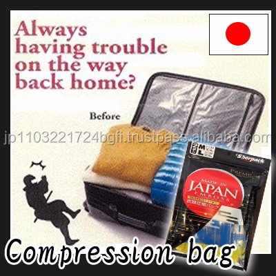 Easy to use handy compression travel bag made in Japan