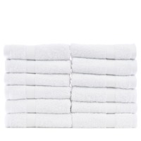 Bare Cotton Luxury Hotel & Spa Towel 100% Genuine Turkish Cotton Wash Cloths - White - Bamboo