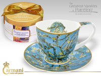 CARMANI gift set Cup & Saucer with VINCENT VAN GOGH design