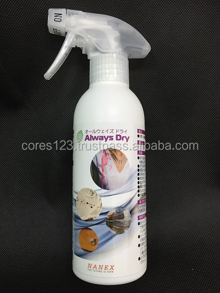 High quality clear and colorless hydrophobic coating spray with UV protection