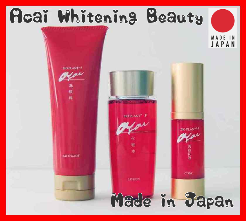 BiO PLANT Acai Face Wash Whitening Lotion Beauty Conc Milk Made in Japan