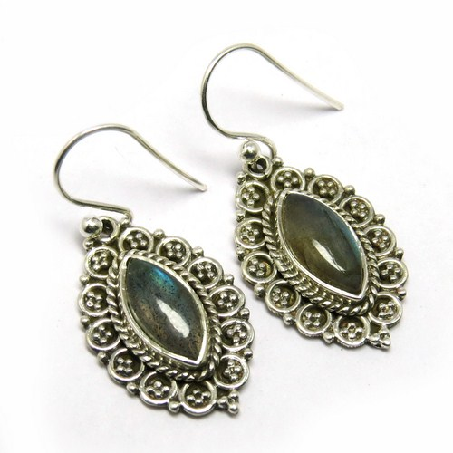 New Design Jewellery Labradorite 925 Sterling Silver Earring, Handcrafted Silver Jewelry, Gemstone Silver Jewelry