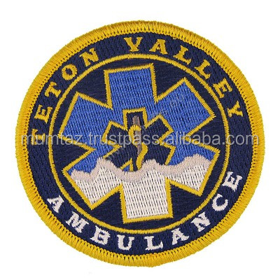 Wholesale Custom Design Embroidery Patches Woven Badge for Rescue Jacket
