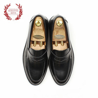 [ROMANTICMOVE] New Smart Loafer (FG Black)_R14M008 High-Quality Hand-made MENS Shoes