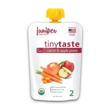 tiny taste organic carrot & apple puree by juniper naturals