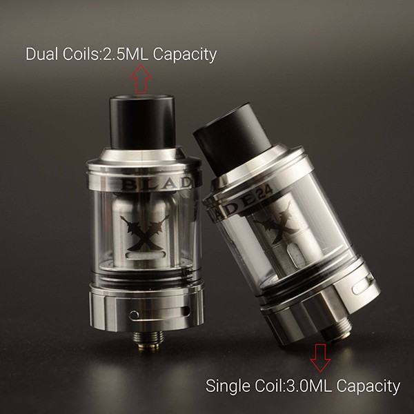The Tesla Blade 24 tank of the coil material results in better flavor