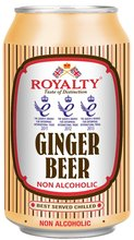 ROYALTY NON-ALCOHOLIC GINGER BEER - 4x330ml - Pack of 6