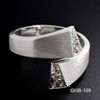 Latest Design Silver Cheap Diamond Charm Rhinestone Bangles