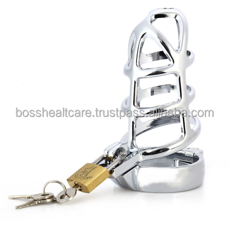 Stainless Steel Cock Lock for Men Chastity devoice