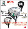Various types of golf spare parts and Used Hybrid Kasco POWER TORNADO 7(type-U) for resell , deffer model also available