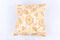 INDIAN TRADITIONAL VINTAGE GYPSY HANDMADE APPLIQUE PATCH WORK COTTON CUSHION COVER