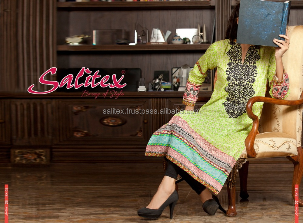 SK-05- Salitex Lawn ladies kurta designs designer fancy kurti latest kurti designs in karachi