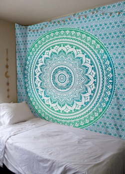 Indian Printed Mandala Tapestry