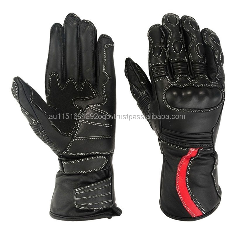 Genuine Leather Motorcycle CowHide Gloves Warm Winter High Quality