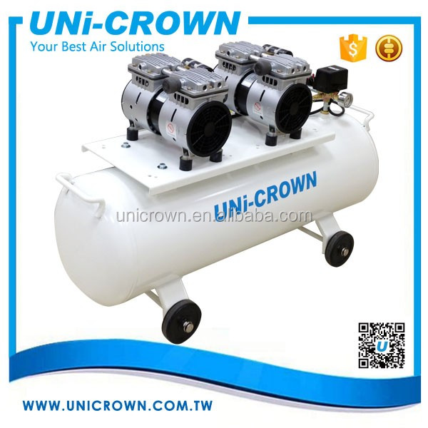 UN-202PT High efficient dental oiless air compressor 7kgf/cm2 200LPM 1KW manufacturer