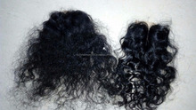 natural deep curly in indian human hair lace closures & silk base closures manufacting in chennai, India