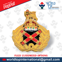 Hand Badge / Army Badge / Felt Badge / Blazer Badge / Lurex Badge / Bullion Badge Made from one of the finest name Badges field