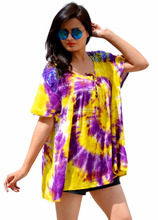 young girls tie dye free size embroidered tops