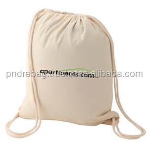 Drawing string cotton bags for children backbag