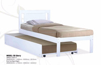 Modern solid wooden white drawers storage single beds/ drawers bed /box bed pull out bed SB Glorry