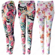 CUSTOM MADE READYMADE GARMENTS LADIES WOMEN FEMALE PRINTED COTTON LYCRA SPANDEX STRETCH LEGGINGS JEGGINGS