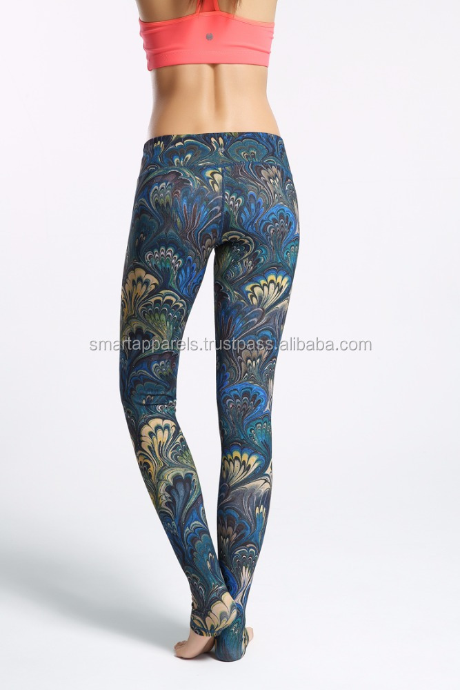Online shopping slimming Thin custom sublimation print leggings